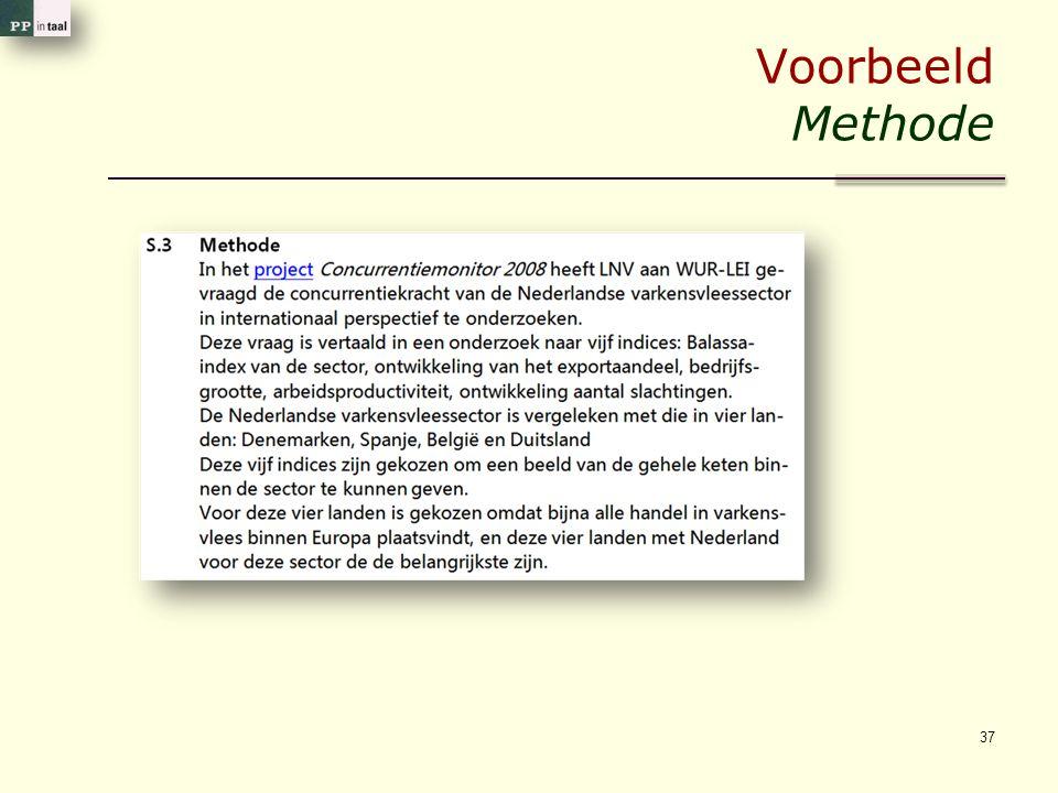 Voorbeeld Methode 37