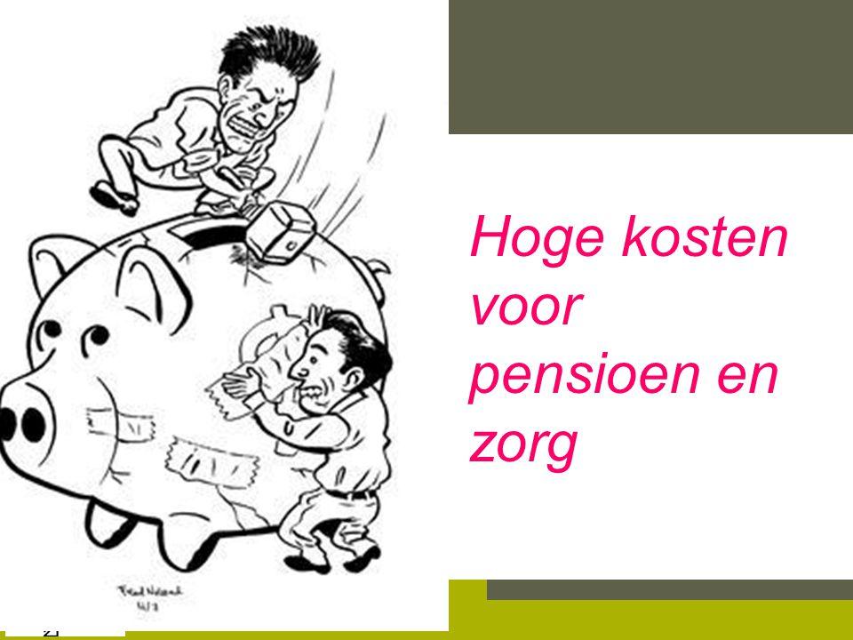 Hoge kosten voor pensioen en zorg