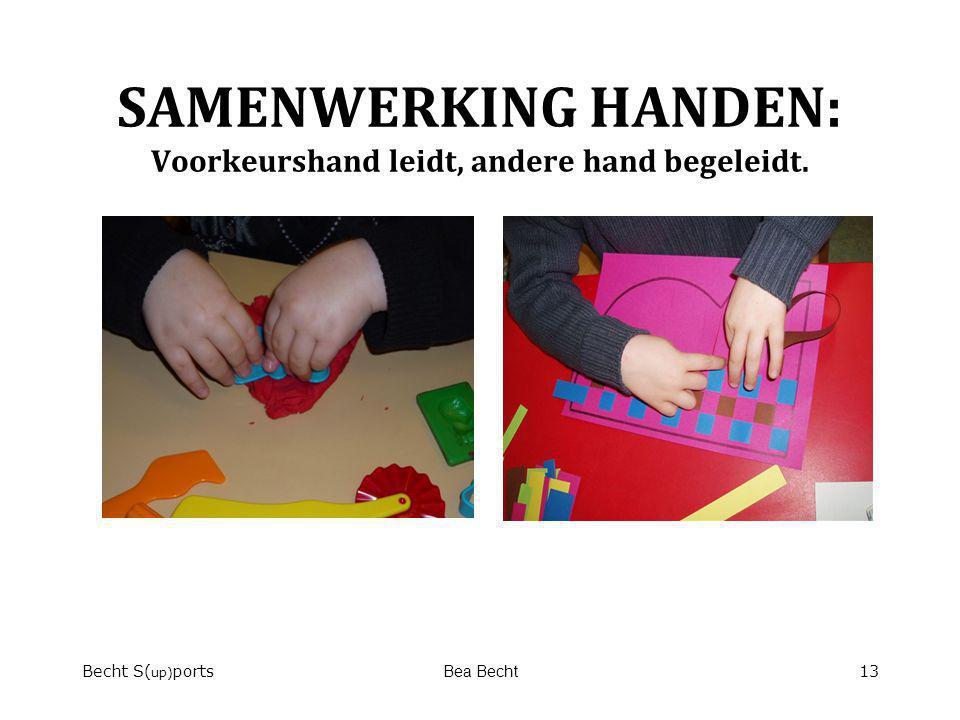 SAMENWERKING HANDEN: Voorkeurshand leidt, andere hand begeleidt. Becht S( up) portsBea Becht13