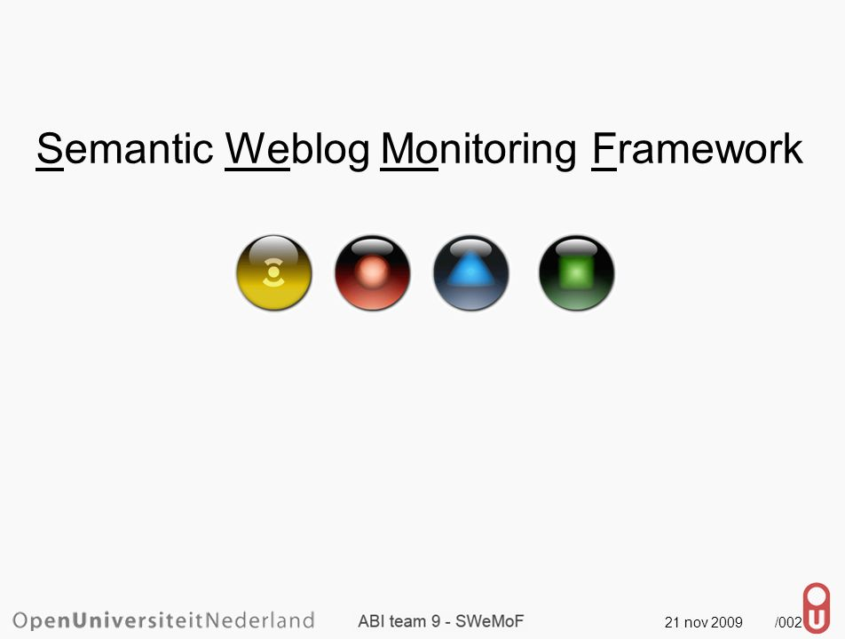 21 nov 2009 /002 Semantic Weblog Monitoring Framework