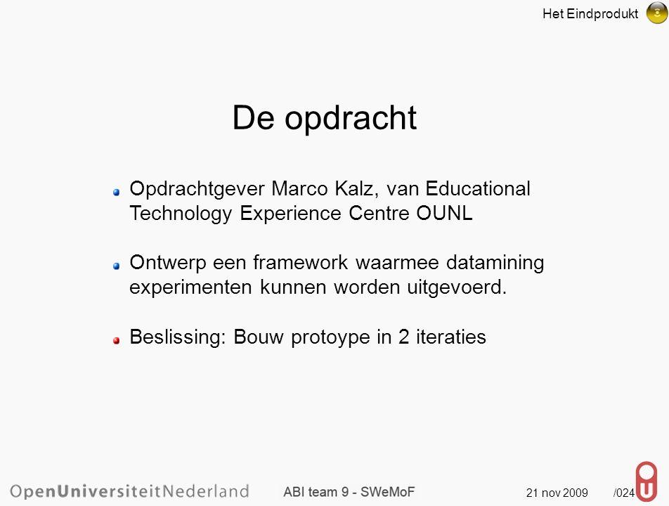 21 nov 2009 /025 Build a textmining experiments framework: Project Assignment