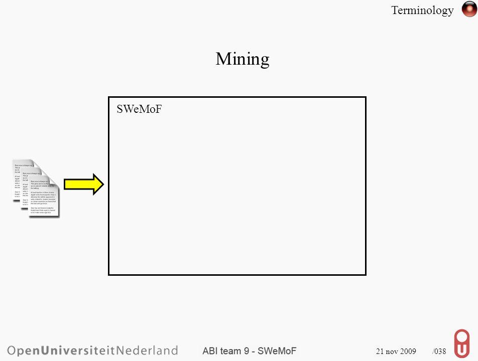 Corpus 21 nov 2009 /039 SWeMoF Mining Terminology