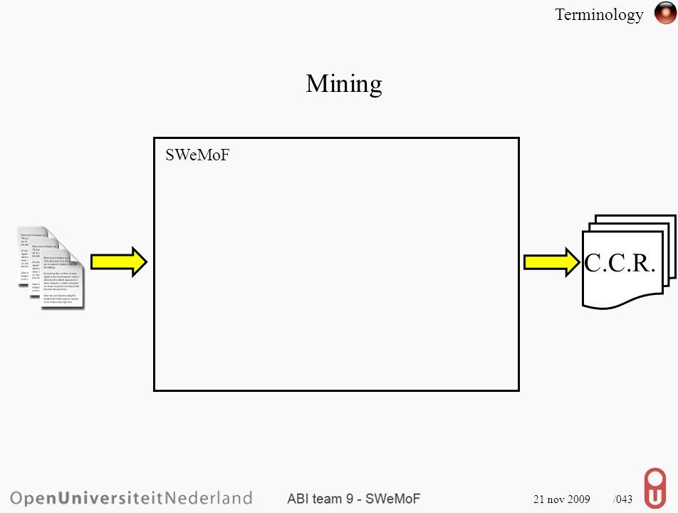 21 nov 2009 /044 Minable Terminology