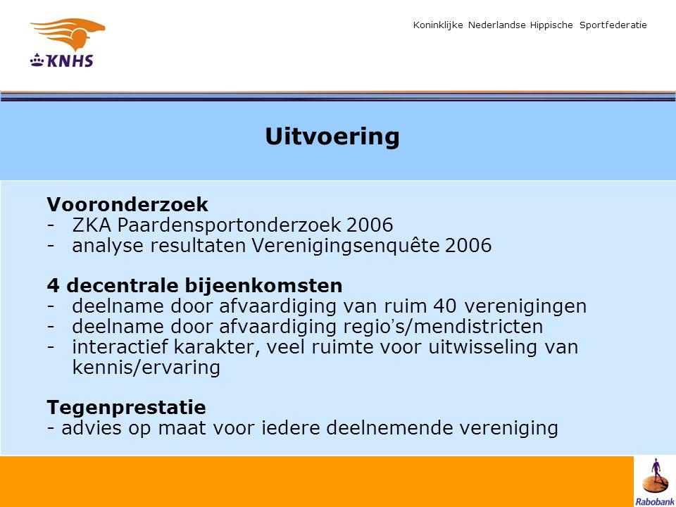 Koninklijke Nederlandse Hippische Sportfederatie Uitvoering Vooronderzoek -ZKA Paardensportonderzoek 2006 -analyse resultaten Verenigingsenquête 2006