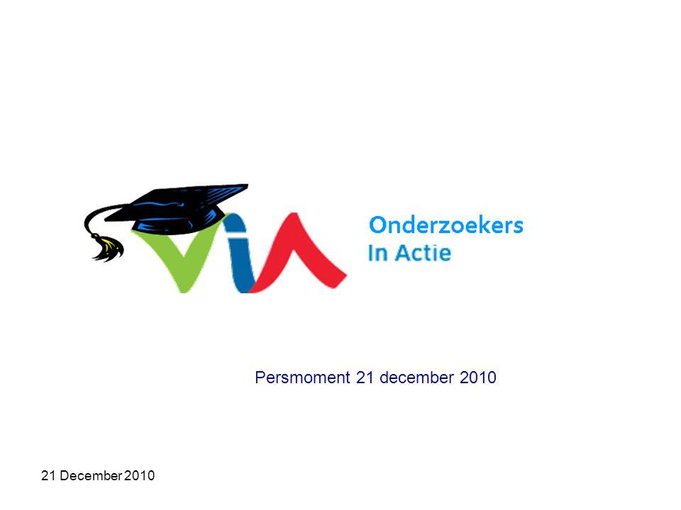 21 December 2010 Wij, onderzoekers in Vlaanderen, zijn verontrust Wij, onderzoekers in Vlaanderen, zijn boos