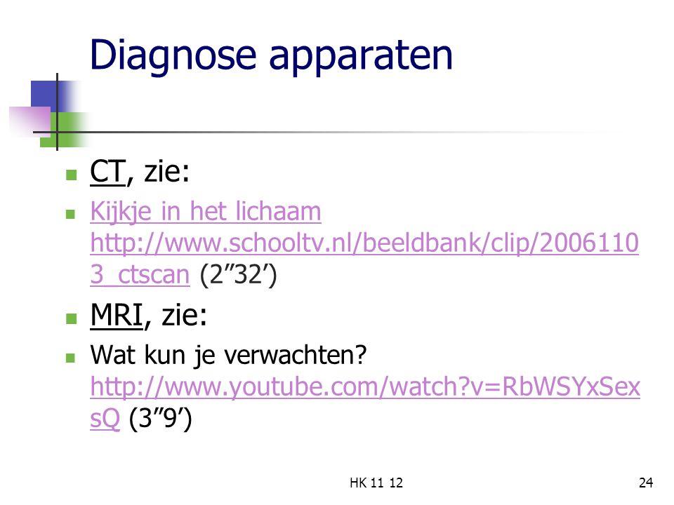 """Diagnose apparaten CT, zie: Kijkje in het lichaam http://www.schooltv.nl/beeldbank/clip/2006110 3_ctscan (2""""32') Kijkje in het lichaam http://www.scho"""
