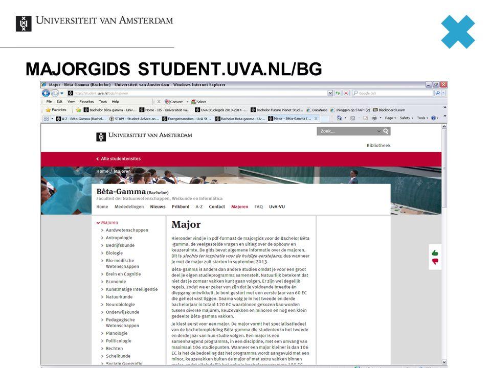 MAJORGIDS STUDENT.UVA.NL/BG