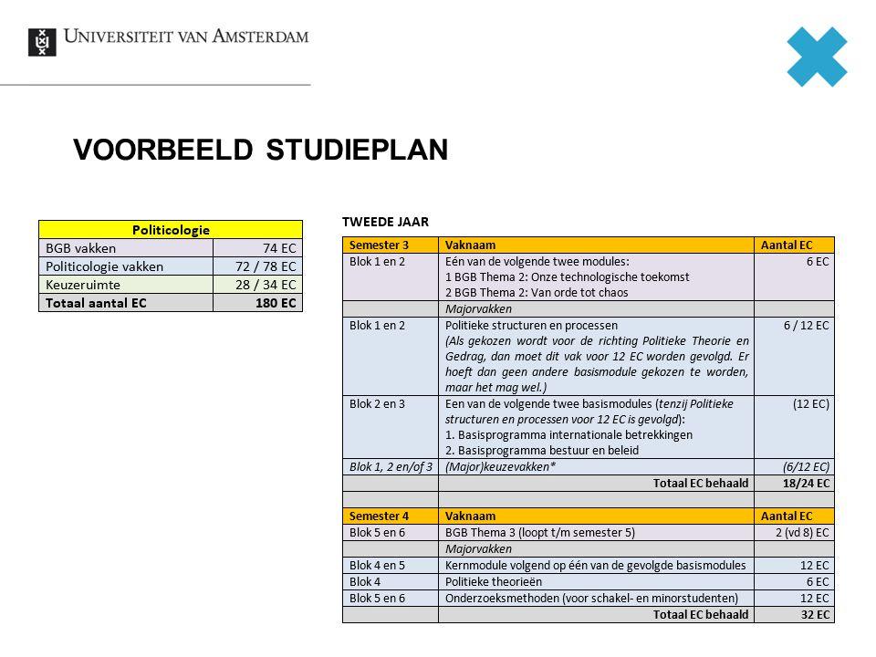 VOORBEELD STUDIEPLAN