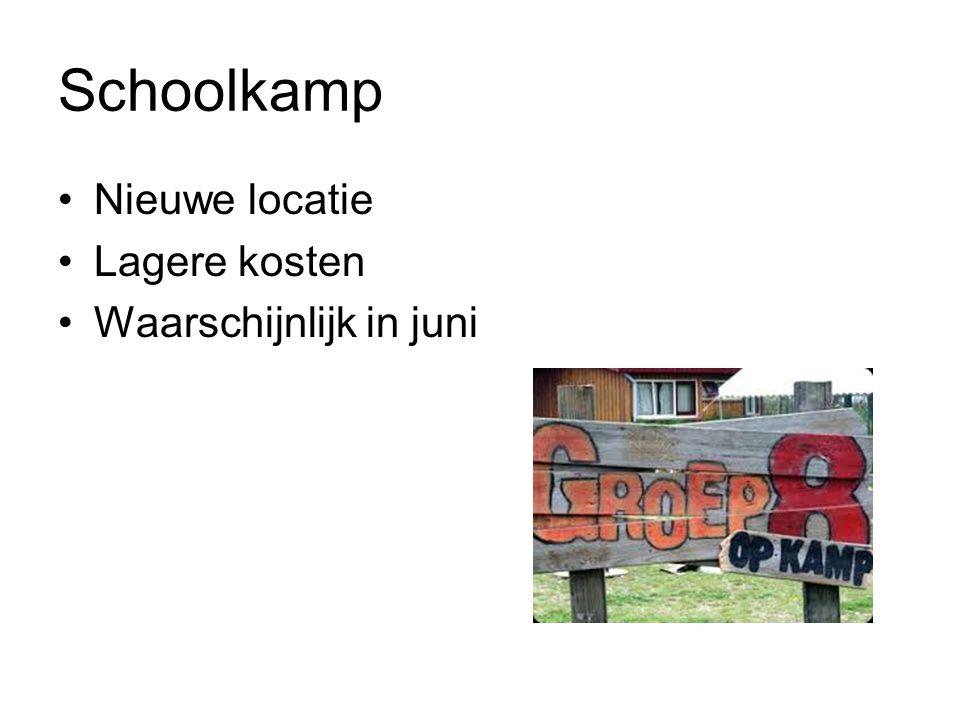 Schoolkamp Nieuwe locatie Lagere kosten Waarschijnlijk in juni