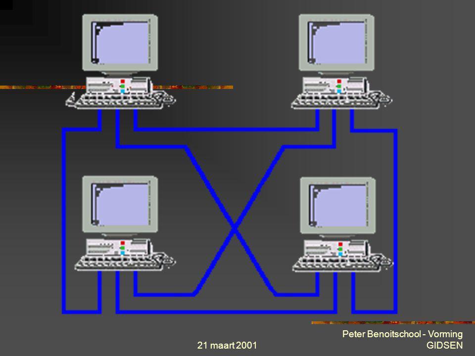 21 maart 2001 Peter Benoitschool - Vorming GIDSEN Theorie « stap voor stap »  Netwerk topologieën : Maas-topologie Zijn er meerdere besturingseenhede
