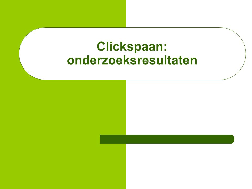Clickspaan: onderzoeksresultaten