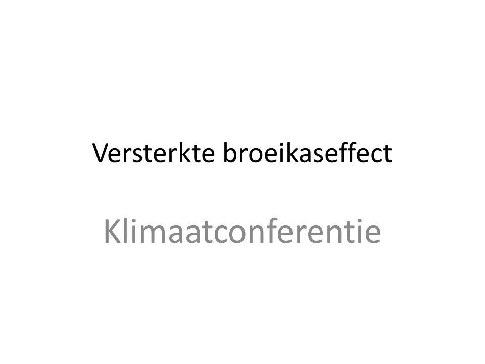 Versterkte broeikaseffect Klimaatconferentie