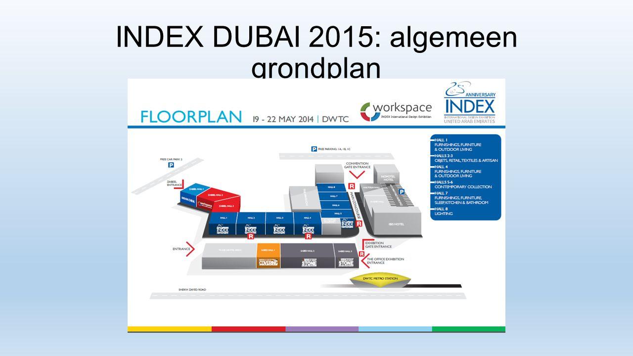 INDEX DUBAI 2015: algemeen grondplan