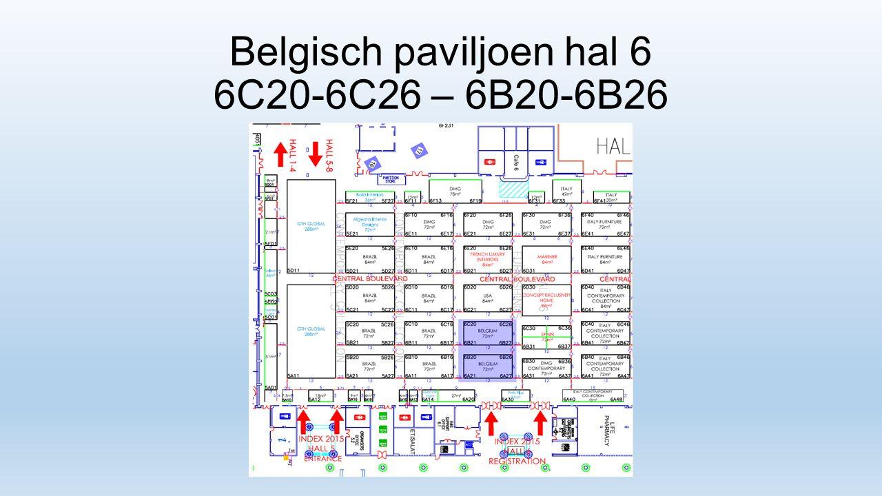 Belgisch paviljoen hal 6 6C20-6C26 – 6B20-6B26