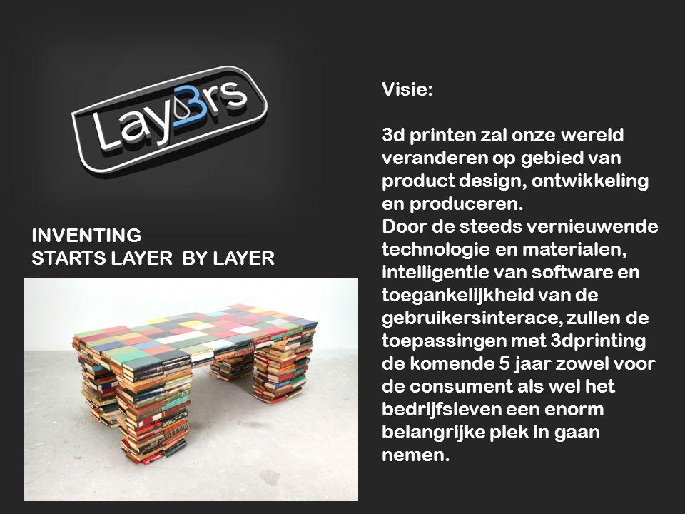 Visie: 3d printen zal onze wereld veranderen op gebied van product design, ontwikkeling en produceren. Door de steeds vernieuwende technologie en mate