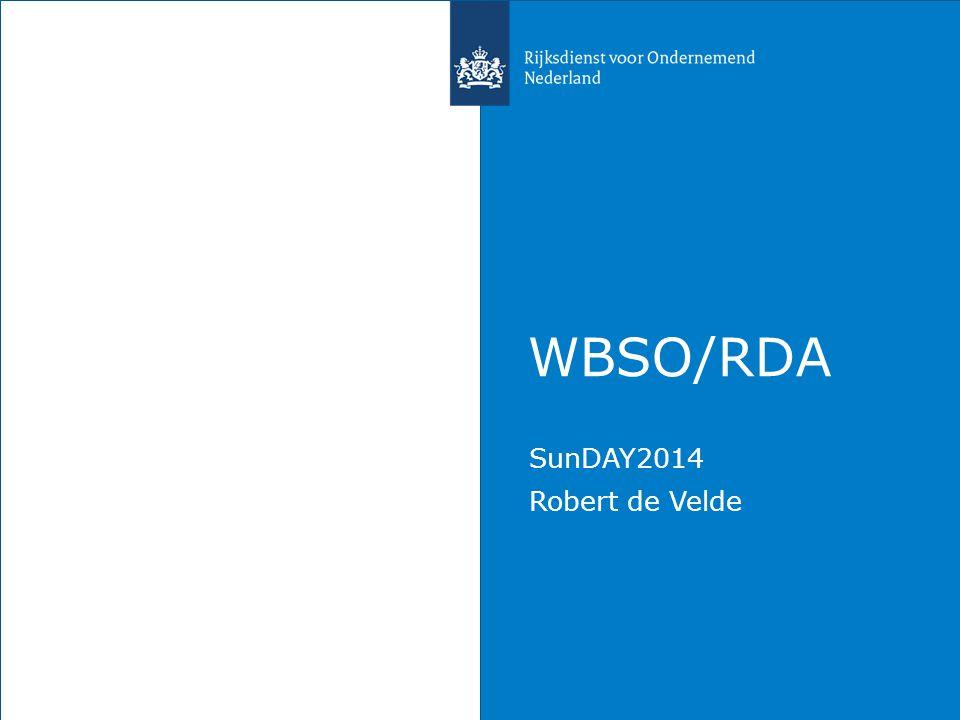 WBSO/RDA SunDAY2014 Robert de Velde