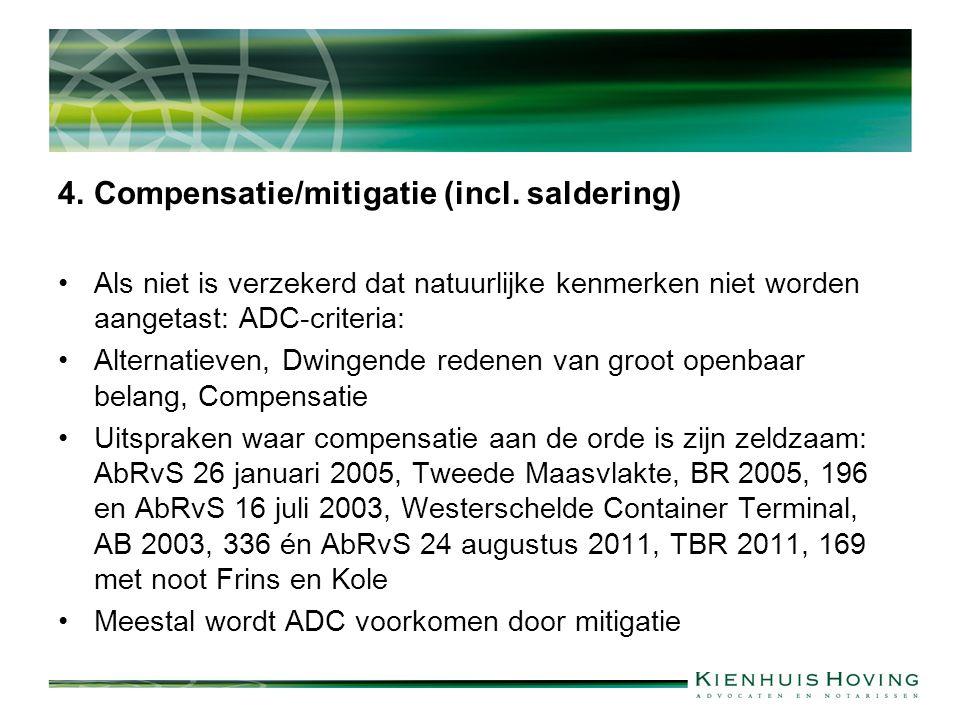 4.Compensatie/mitigatie (incl.