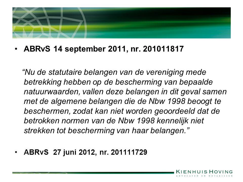 ABRvS 14 september 2011, nr.