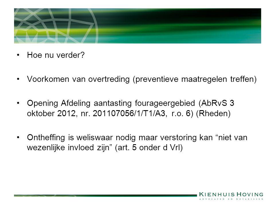 Andere handeling: Jurisprudentie: Ongewijzigde voortzetting exploitatie veehouderij (ABRvS 31 maart 2010, nr.