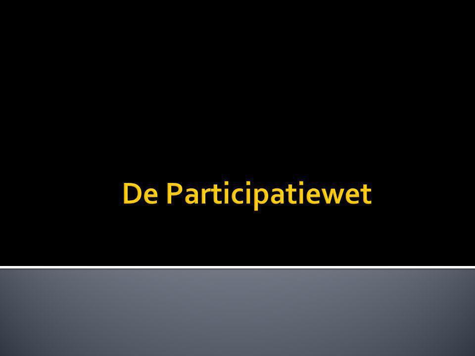  Wet Werk en Bijstand (WWB)  Wet Sociale Werkvoorziening (WSW)  Wajong (jong gehandicapten).