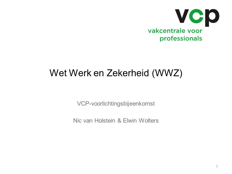 Wet Werk en Zekerheid (WWZ) VCP-voorlichtingsbijeenkomst Nic van Holstein & Elwin Wolters 1