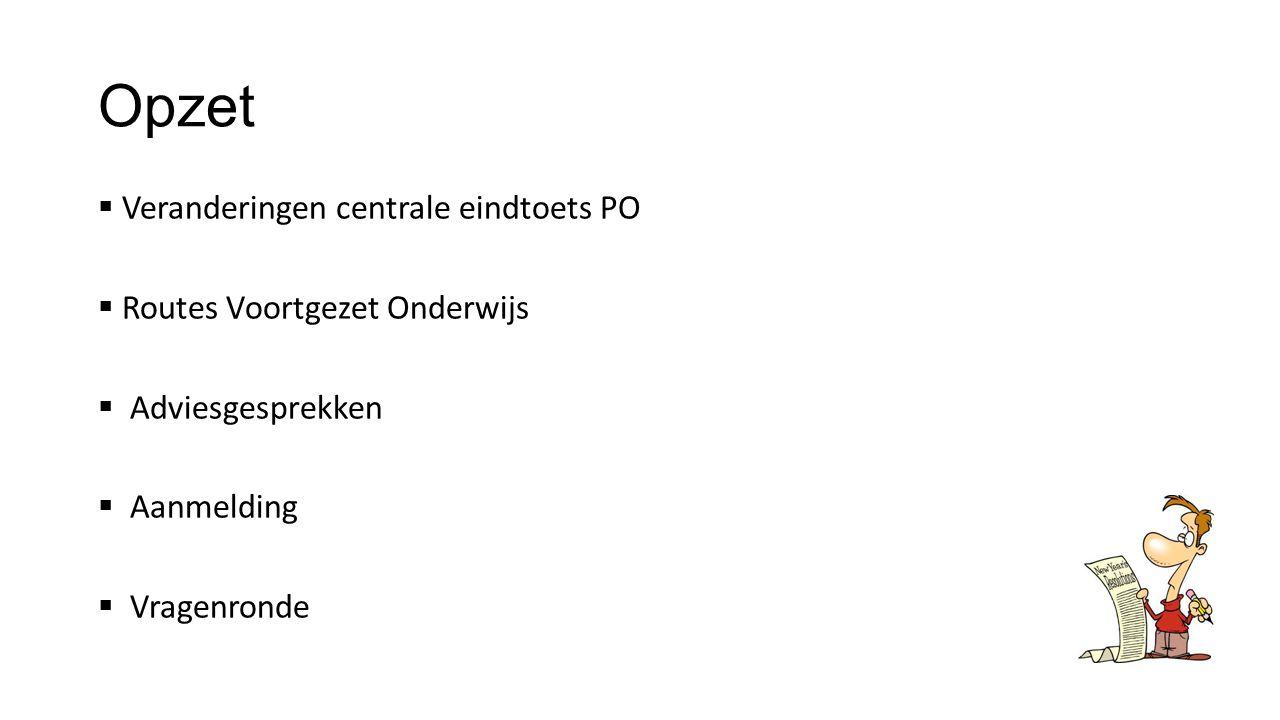 Groep 8 naar het VO Infoavond PCB Regenboog 3 december 2014