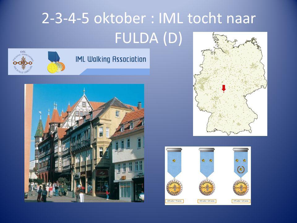2-3-4-5 oktober : IML tocht naar FULDA (D)