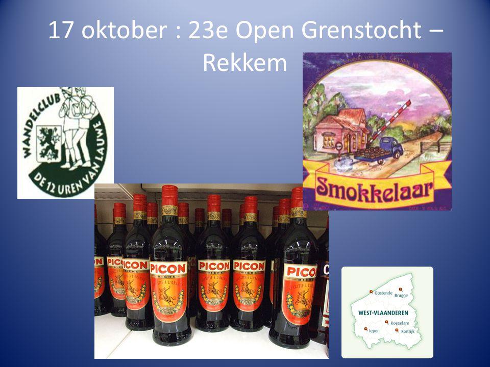 17 oktober : 23e Open Grenstocht – Rekkem