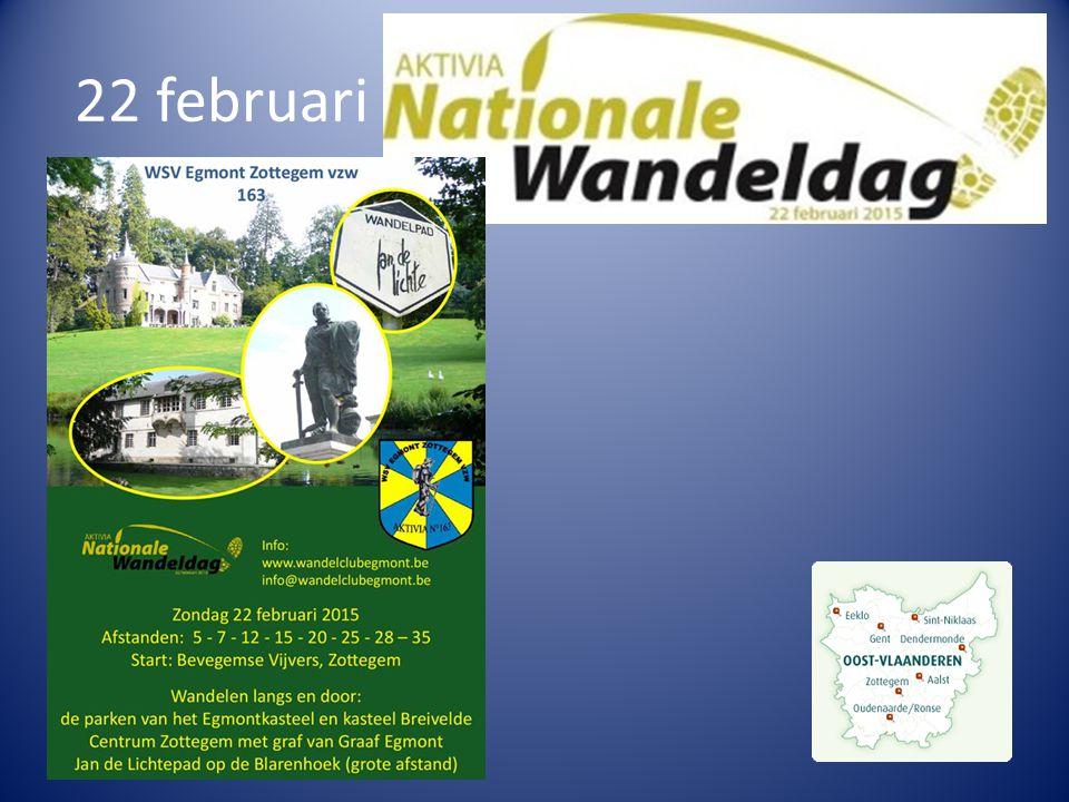 1 maart : Stertocht – 1ste Ajuin- wisselbekertocht (WSV De Kadees Aalst)