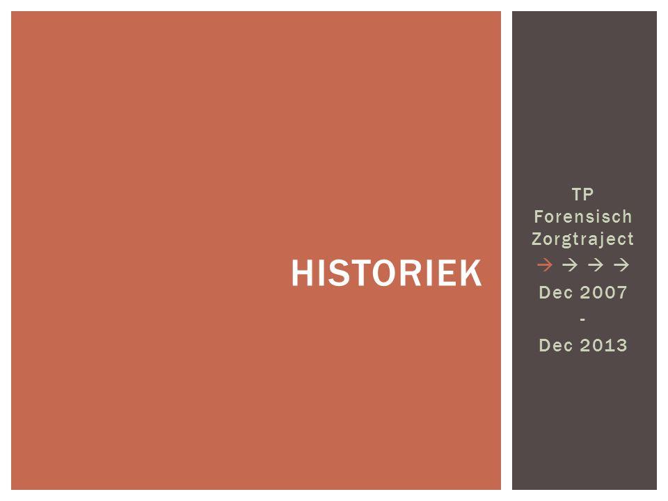 TP Forensisch Zorgtraject    Dec 2007 - Dec 2013 HISTORIEK