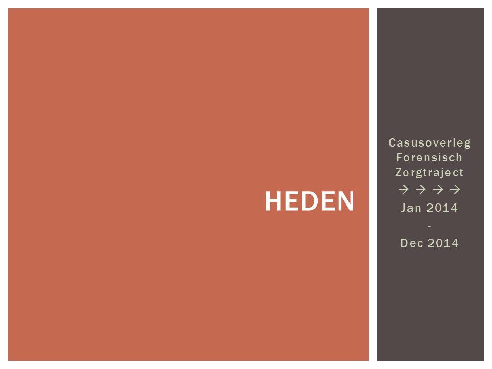 Casusoverleg Forensisch Zorgtraject   Jan 2014 - Dec 2014 HEDEN