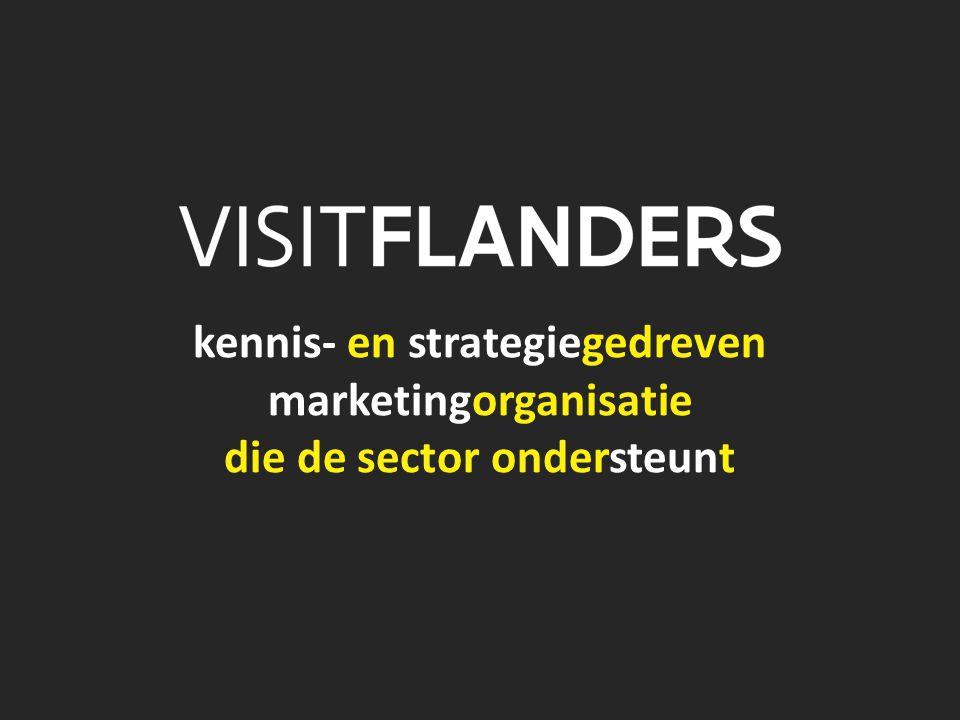 kennis- en strategiegedreven marketingorganisatie die de sector ondersteunt