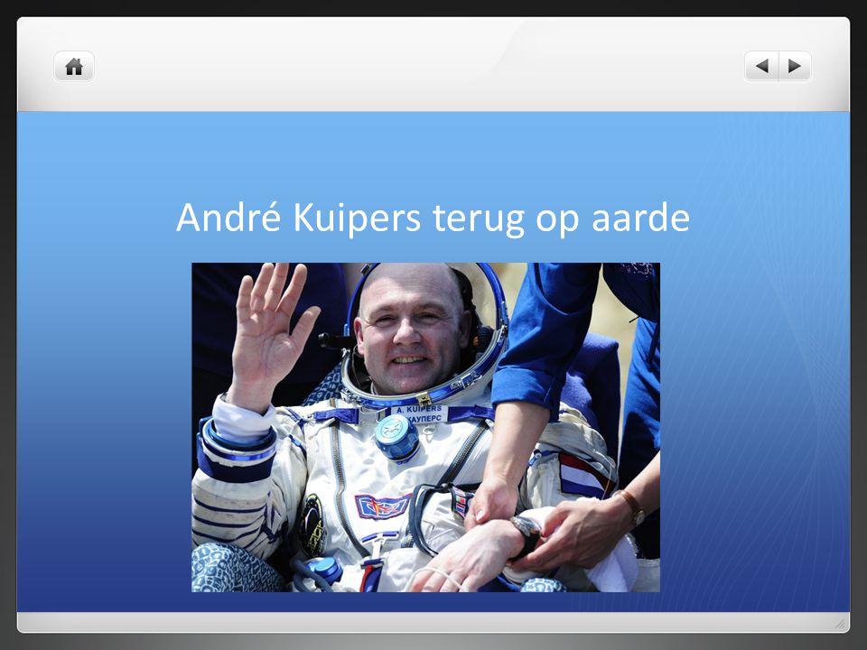 André Kuipers terug op aarde