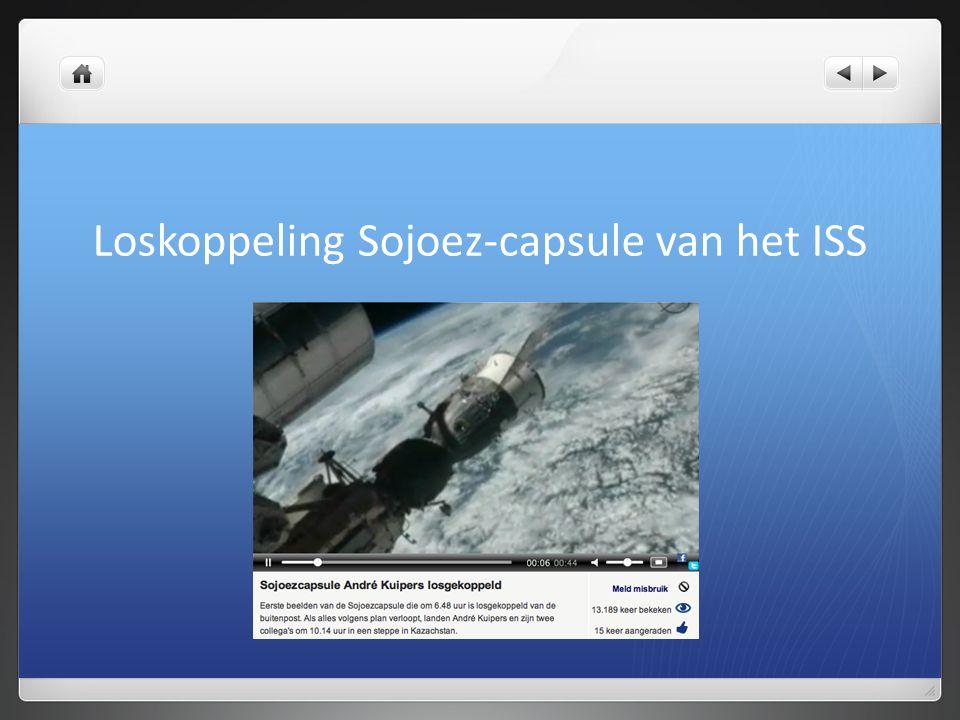Loskoppeling Sojoez-capsule van het ISS