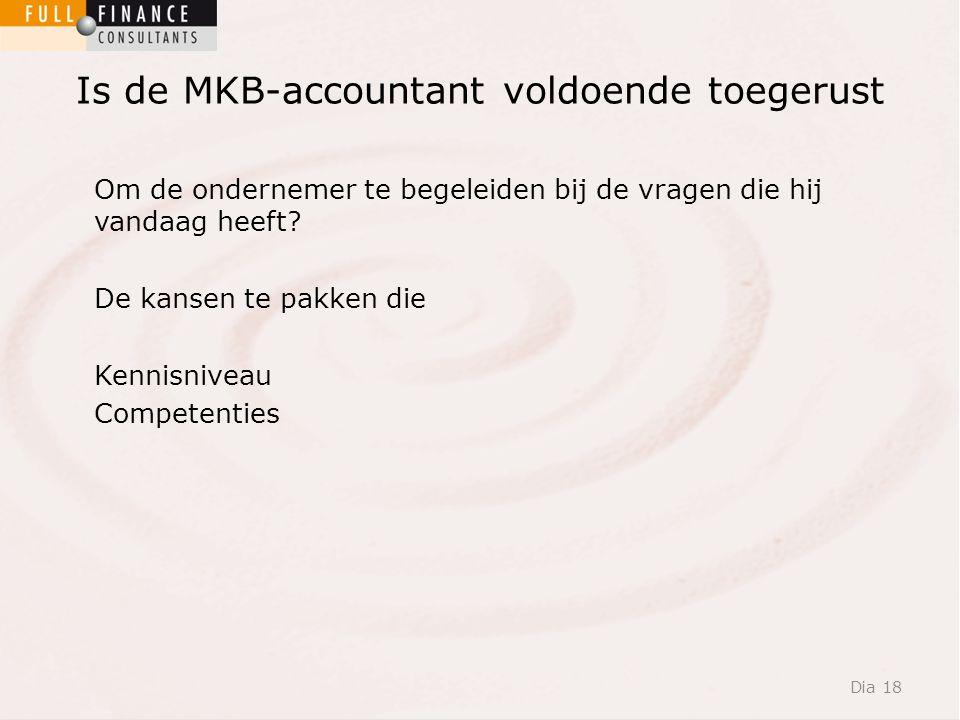 Is de MKB-accountant voldoende toegerust Om de ondernemer te begeleiden bij de vragen die hij vandaag heeft.