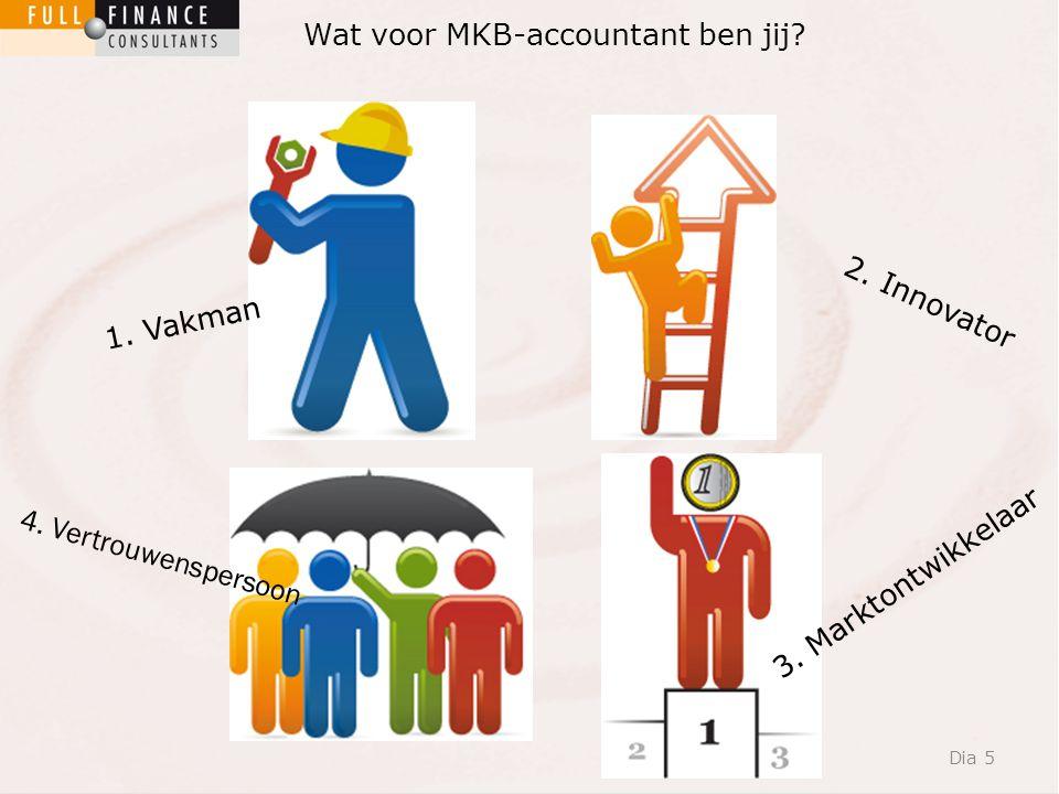 Dia 5 Wat voor MKB-accountant ben jij. 1. Vakman 4.