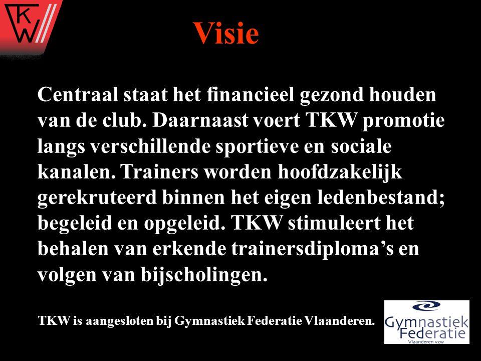 Centraal staat het financieel gezond houden van de club. Daarnaast voert TKW promotie langs verschillende sportieve en sociale kanalen. Trainers worde
