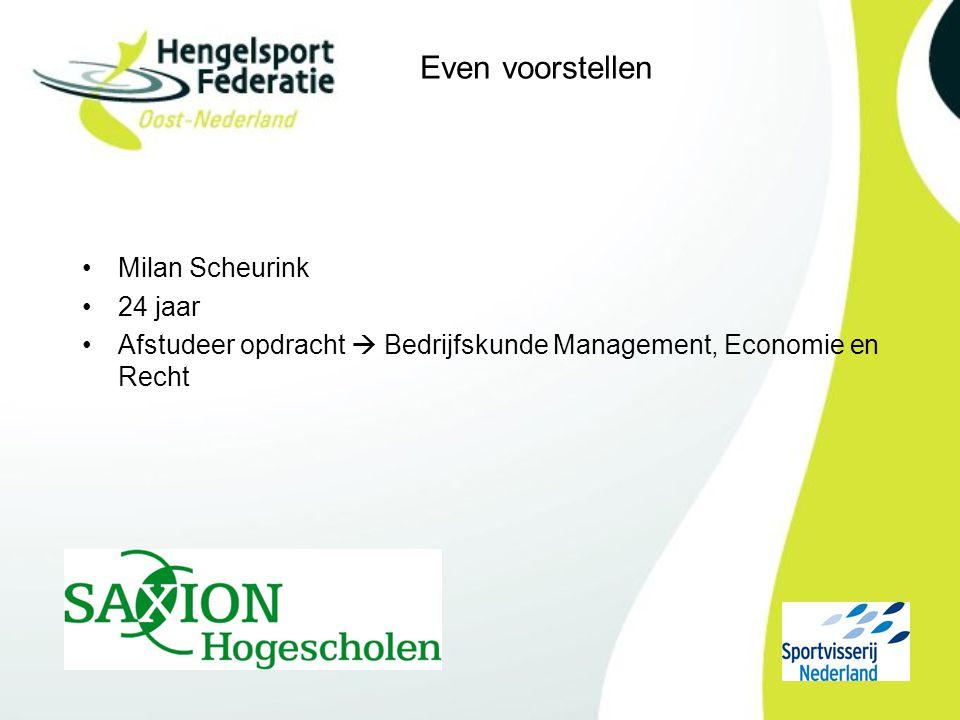 Even voorstellen Milan Scheurink 24 jaar Afstudeer opdracht  Bedrijfskunde Management, Economie en Recht
