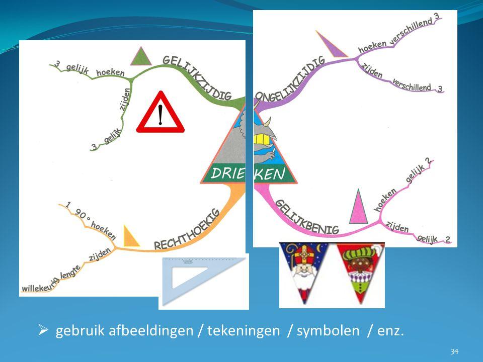  gebruik afbeeldingen / tekeningen / symbolen / enz. 34