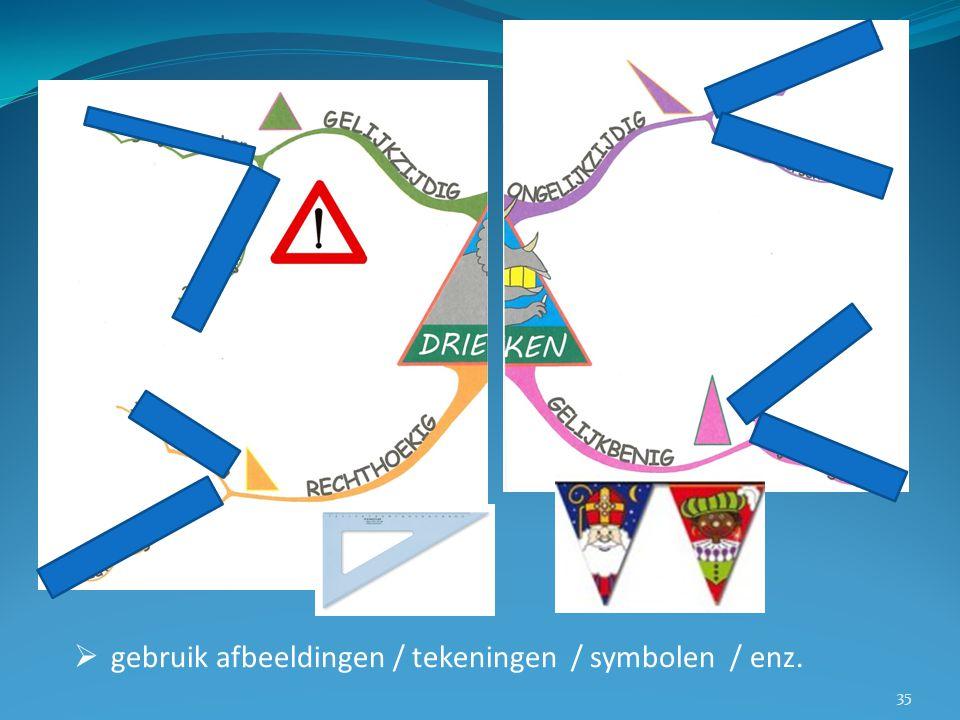  gebruik afbeeldingen / tekeningen / symbolen / enz. 35