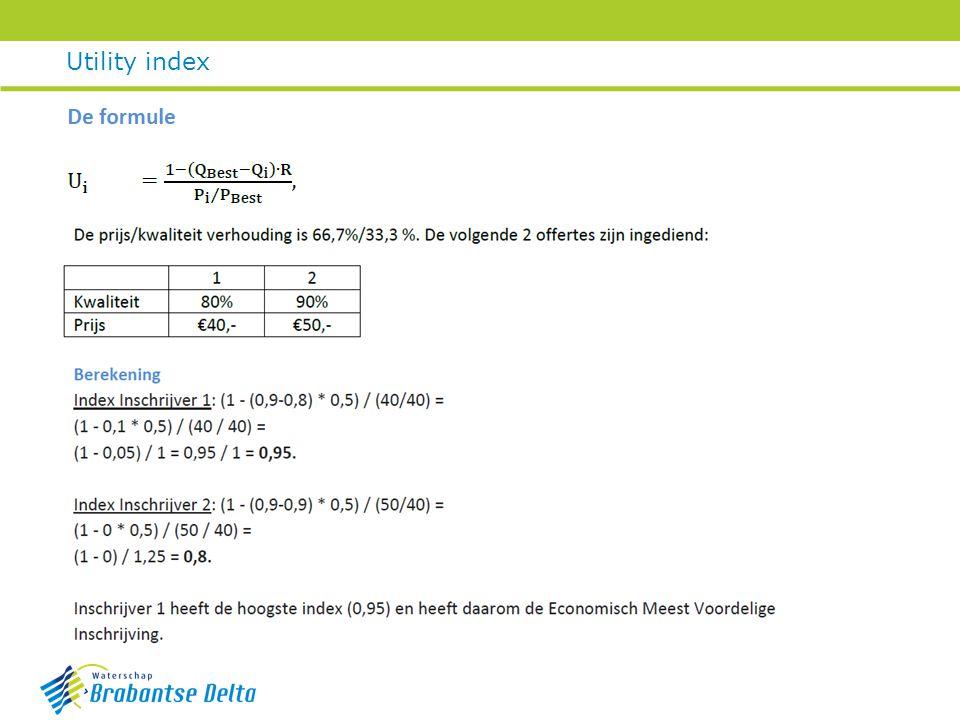 Utility index