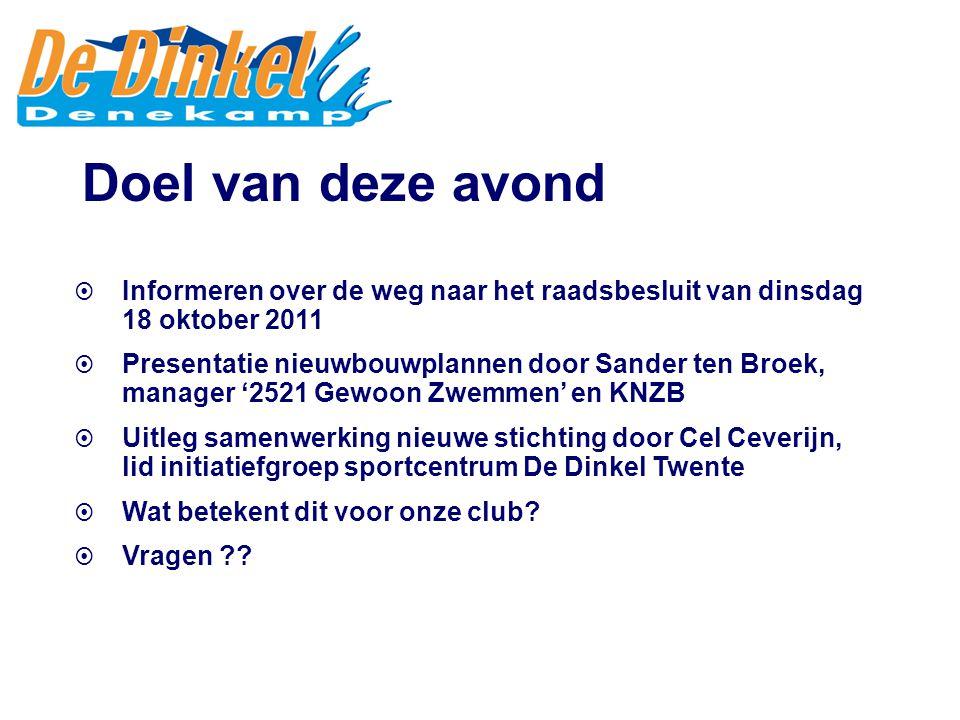 Informeren over de weg naar het raadsbesluit van dinsdag 18 oktober 2011  Presentatie nieuwbouwplannen door Sander ten Broek, manager '2521 Gewoon
