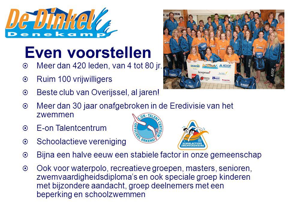  Meer dan 420 leden, van 4 tot 80 jr.  Ruim 100 vrijwilligers  Beste club van Overijssel, al jaren!  Meer dan 30 jaar onafgebroken in de Eredivisi