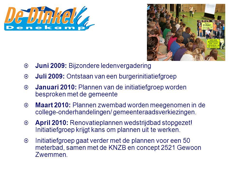  Juni 2009: Bijzondere ledenvergadering  Juli 2009: Ontstaan van een burgerinitiatiefgroep  Januari 2010: Plannen van de initiatiefgroep worden bes