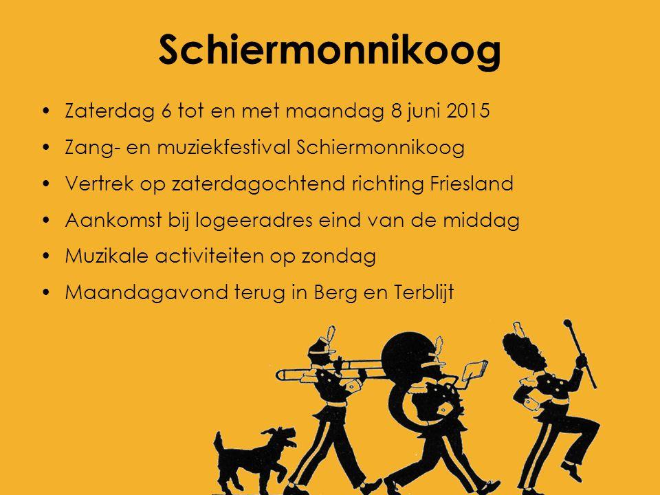 Schiermonnikoog Zaterdag 6 tot en met maandag 8 juni 2015 Zang- en muziekfestival Schiermonnikoog Vertrek op zaterdagochtend richting Friesland Aankom