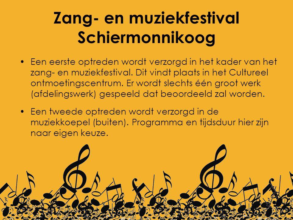 Zang- en muziekfestival Schiermonnikoog Een eerste optreden wordt verzorgd in het kader van het zang- en muziekfestival. Dit vindt plaats in het Cultu