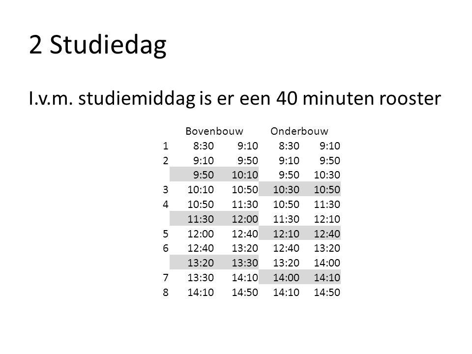 2 Studiedag I.v.m.