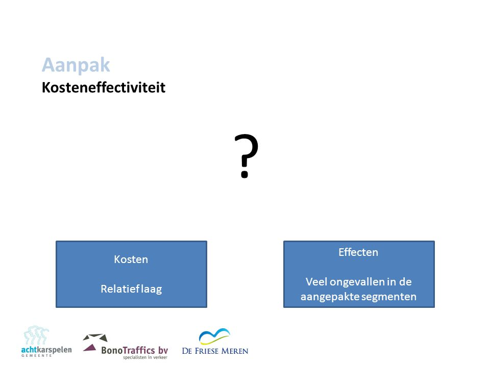 Aanpak Kosteneffectiviteit .