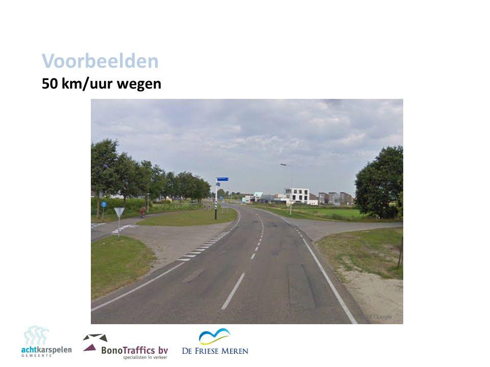 Voorbeelden 50 km/uur wegen