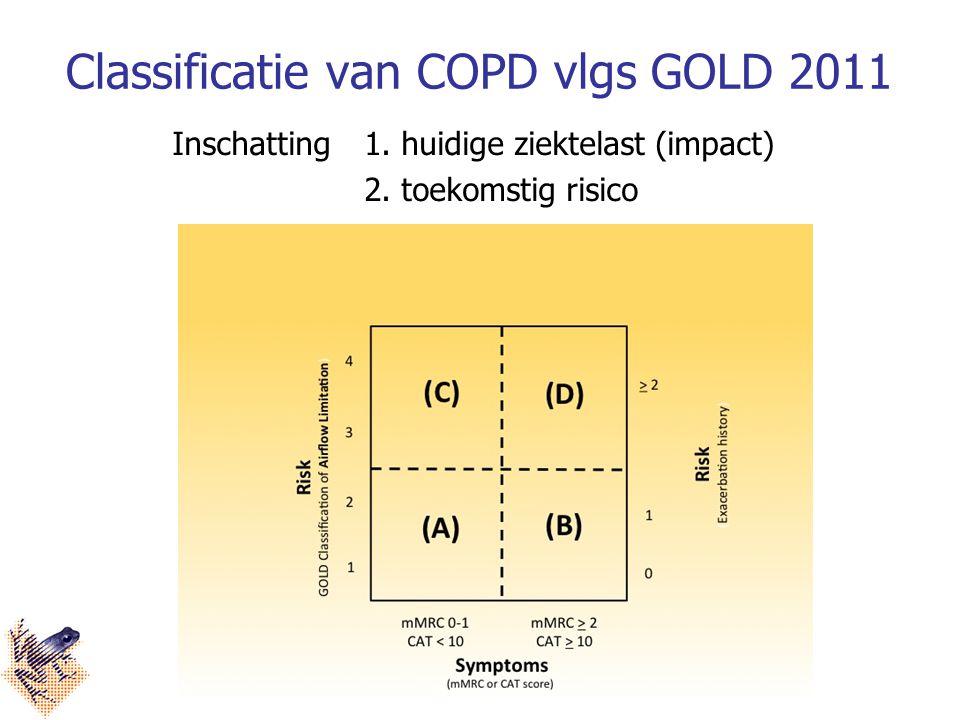 Classificatie van COPD vlgs GOLD 2011 Inschatting 1.